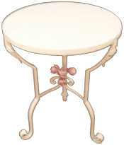 Rose & Acanthus Leaves Table, Item #135